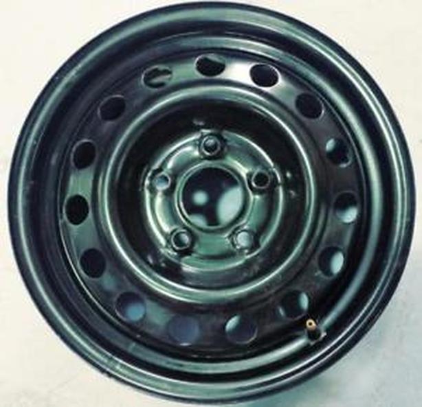 Black authentic Subaru 17x7, 5x100 steel rim