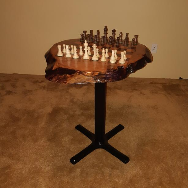 Handcrafted Chess Table