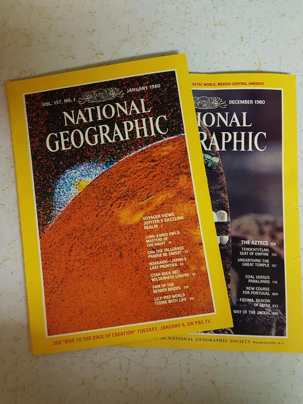 NATIONAL GEOGRAPHIC MAGAZINES from 1980 - 8 available