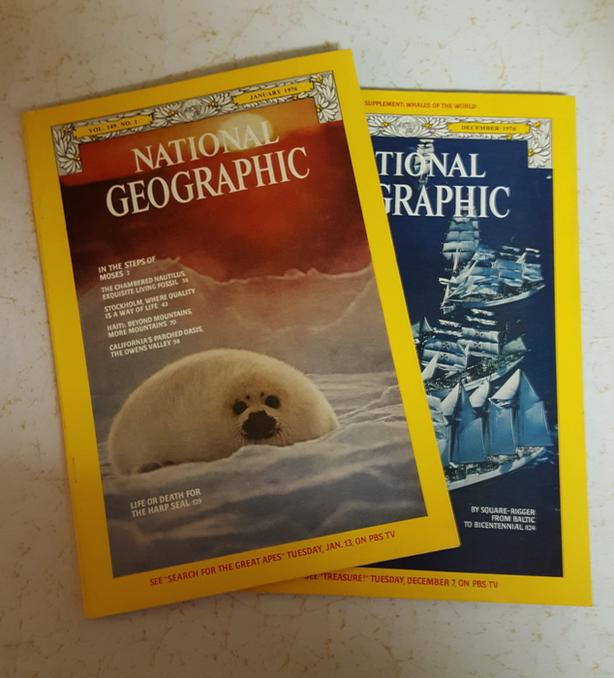 NATIONAL GEOGRAPHIC MAGAZINES from 1976 - 11 available