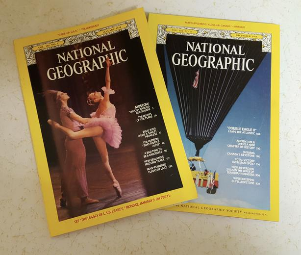 NATIONAL GEOGRAPHIC MAGAZINES from 1978 - 9 available