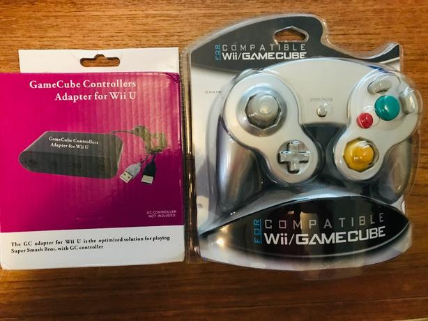 Nintendo Gamecube controller and Wii U adapter