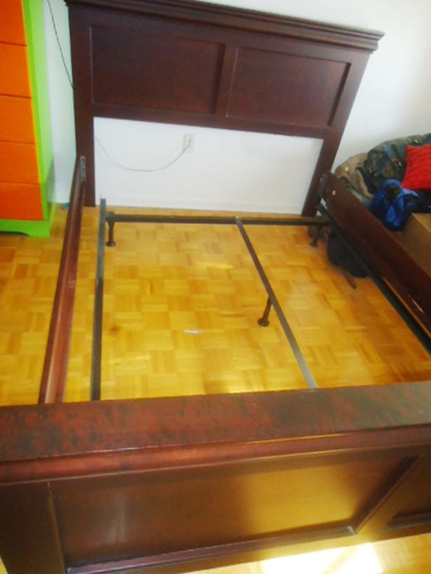 Queen Size Cherrywood Bedframe - 2 Sets for Sale