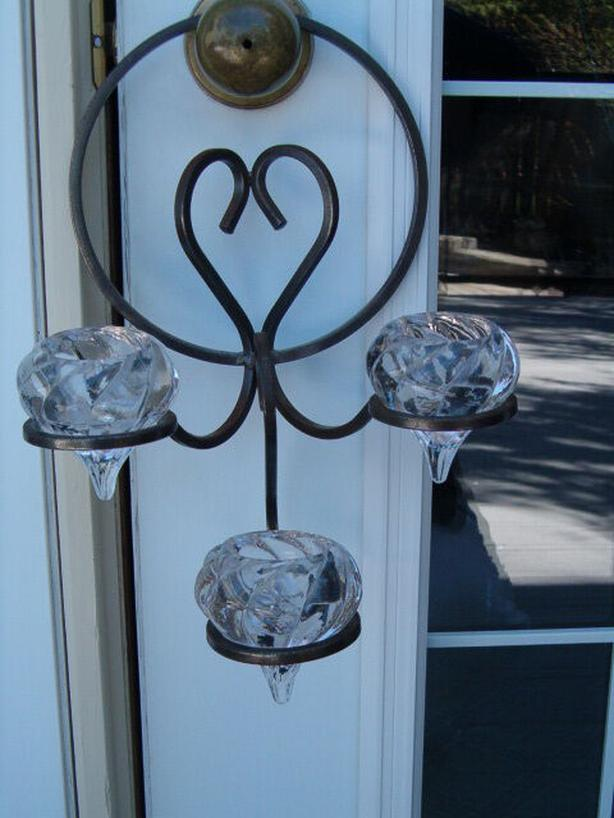 metal wall art mounts teardrop candle holder ,