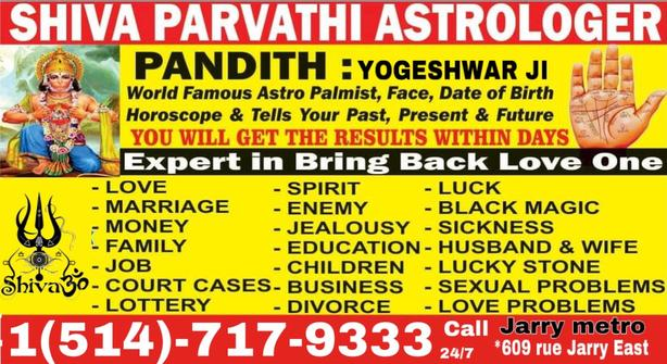 BEST ASTROLOGY READING  Call now +1(514)-717-9333