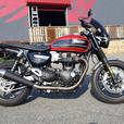 2019 Triumph Speed Twin Korosi Red and Storm Grey