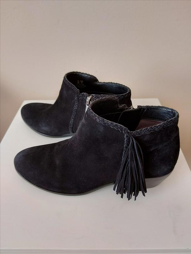 REDUCED Ladies Black Suede Sam Edelman Ankle Boots - Size 6 or 36