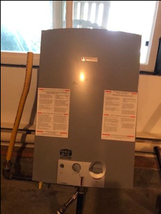 Bosch propane on demand hot water heater