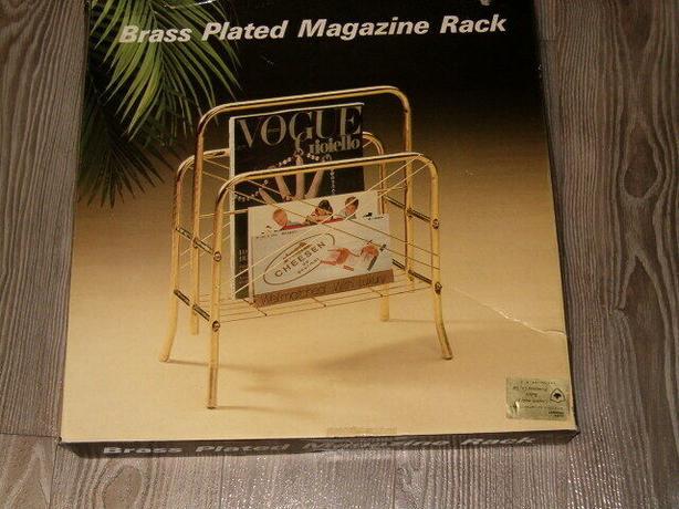 Magazine Rack, brass plated , ,