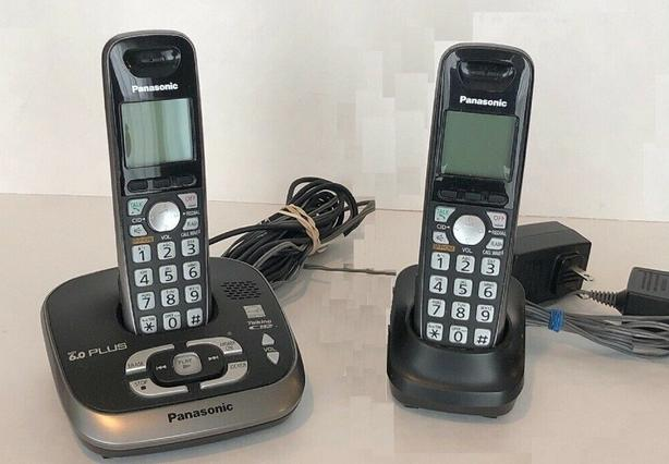 Top quality Panasonic DECT 6 2 cordless phone. 2 handset