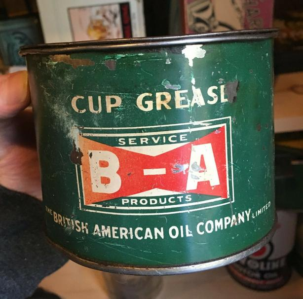 VINTAGE 1930's B/A CUP GREASE (1 LB.) CAN