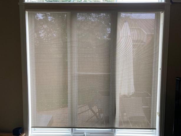 Solar shade with UV protection