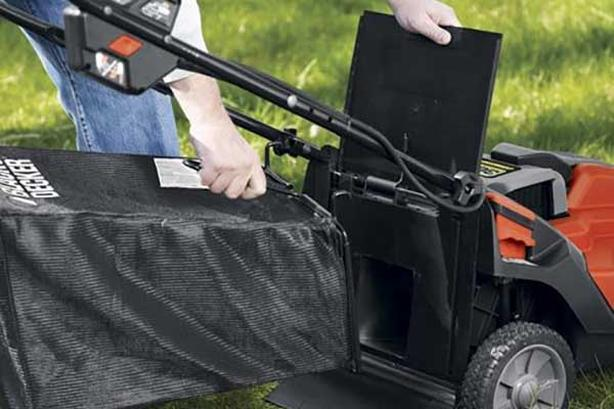 Black and Decker cordless lawnmower bag