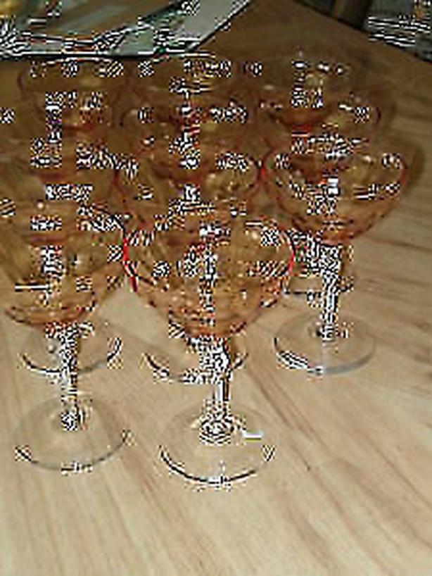 champagne ,goblet stem vintage elegant color glasse