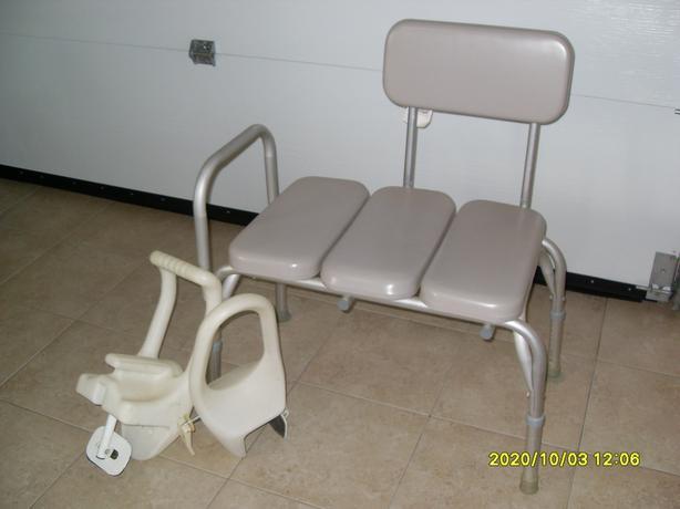 Chair for Bathtub, plastic seat, adjustable legs
