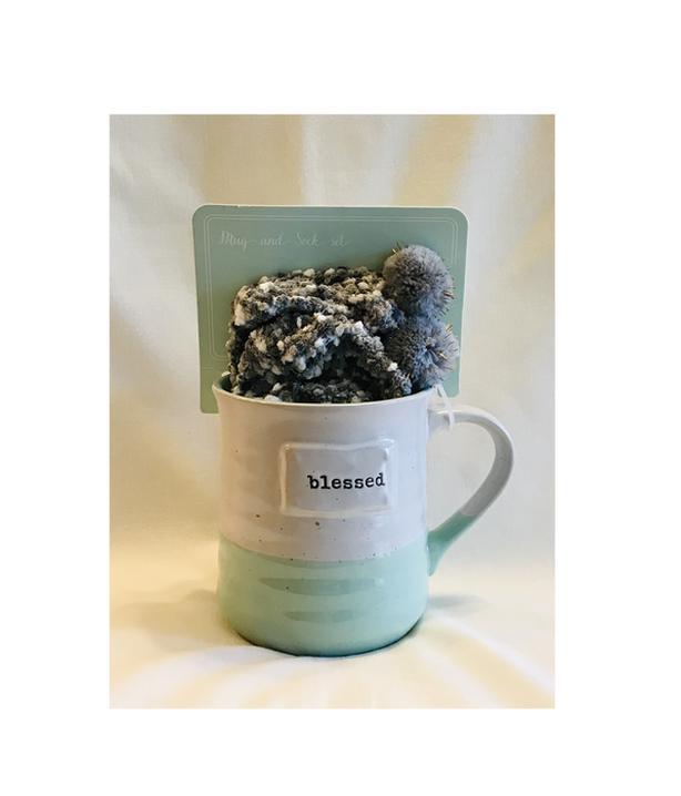 """BELLE MAISON """"Blessed"""" Mug & Sock Gift Set"""