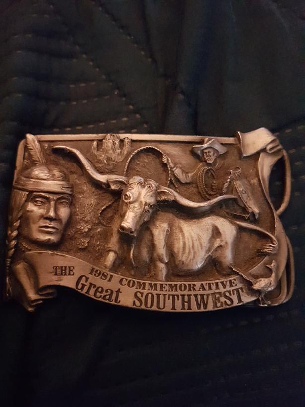 Vintage commemerative belt buckle