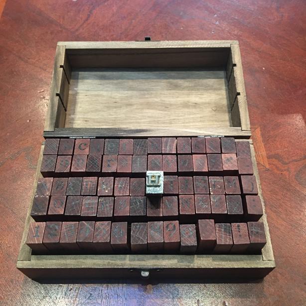 Vintage-y Alphabet stamp kit