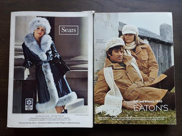 Lot of 19 EATON'S & SIMPSONS-SEARS CATALOGUES - 1970 to 2000
