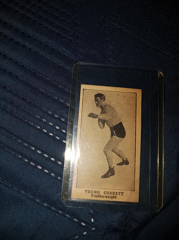 1923 young corbett boxing card