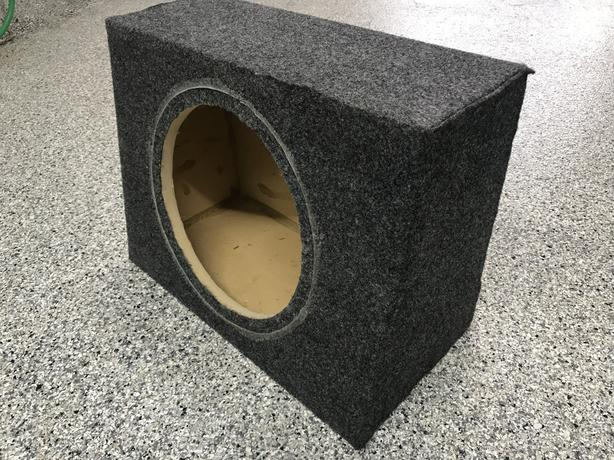 12 inch 1.0 cf subwoofer sealed box (no driver)