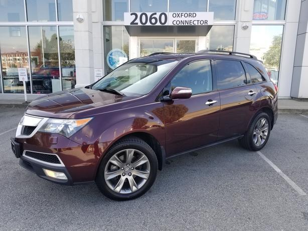 2010 Acura MDX Elite Pkg Navigation-Leather-Sunroof-7 Passenger AWD