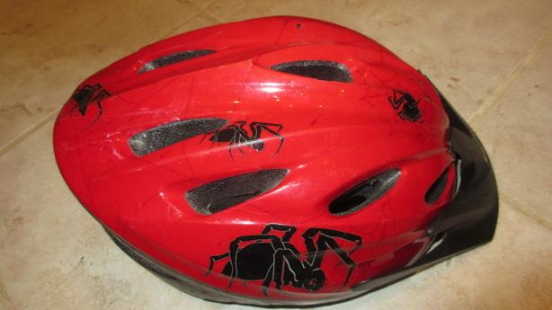 Red Racer child bike helmet