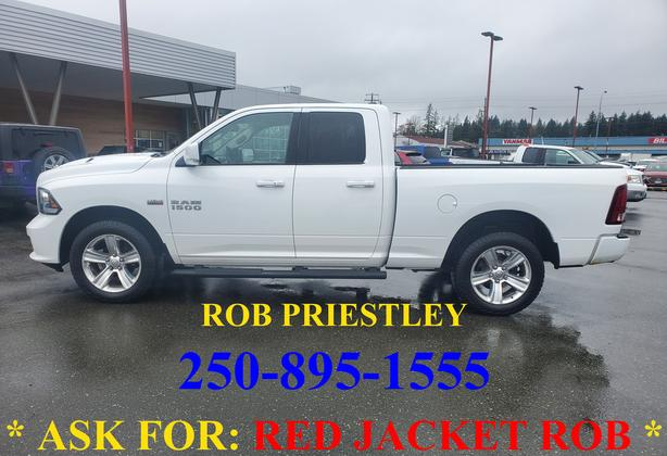 2016 RAM 1500 QUAD CAB SPORT 4X4 * ask for RED JACKET ROB *