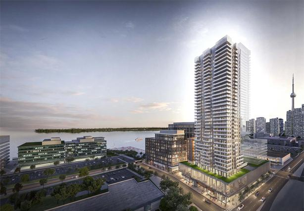 Downtown Toronto Waterfront 1 bed + den , 583SF, Unobstructed East Views!