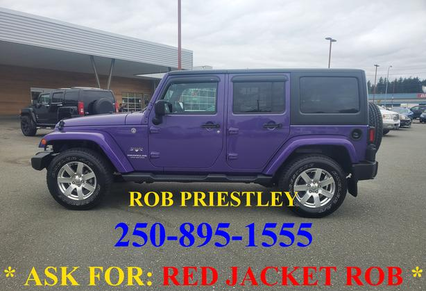 2017 JEEP WRANGLER UNLIMITED SAHARA 4X4 * ask for RED JACKET ROB *