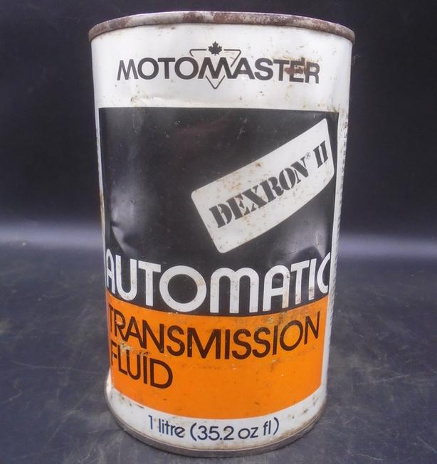 VINTAGE 1970's CANADIAN TIRE MOTO-MASTER ATF LITRE CAN