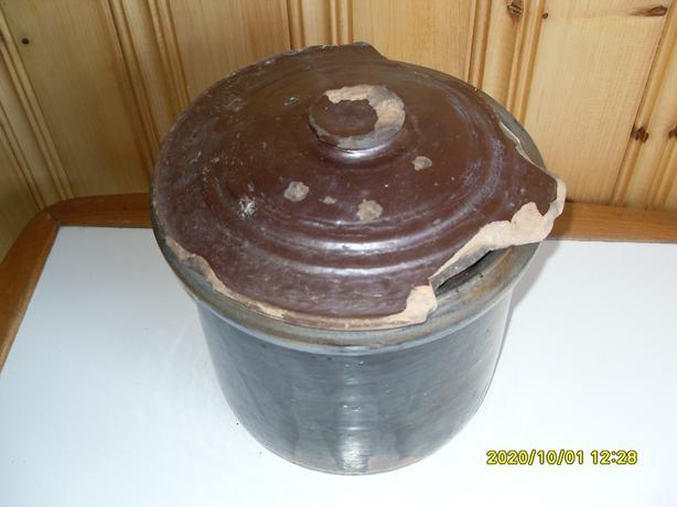 Antique Cookware Cocotte en Terre Cuite