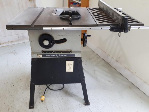 """9"""" Rockwell Beaver Table Saw"""