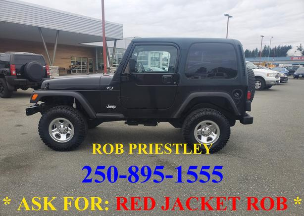 2005 JEEP TJ 4X4 * ask for RED JACKET ROB *