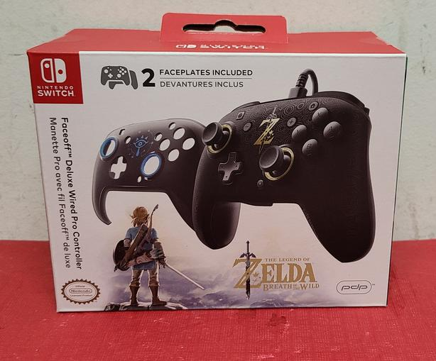 Nintendo Switch Zelda PDP Faceoff Deluxe Wired Pro Controller
