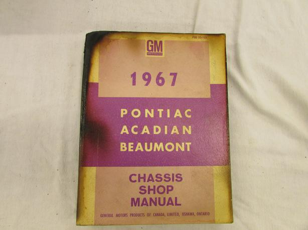 Acadian Shop Manual