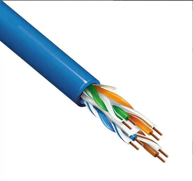 Cat6 UTP Bare Copper Solid Bulk Cable CM-Rated 23AWG 250ft