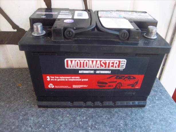 MotoMaster car battery
