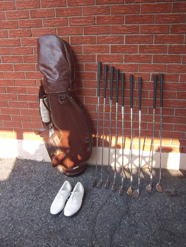 Golf set plus shoes sold separately