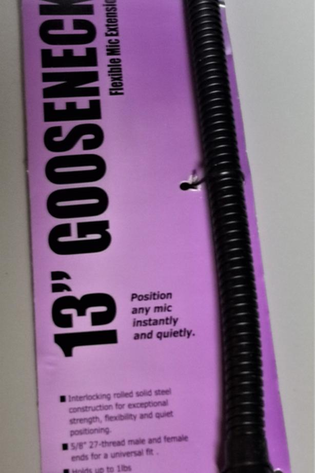 Flexible gooseneck for Mic stand, 13inch New