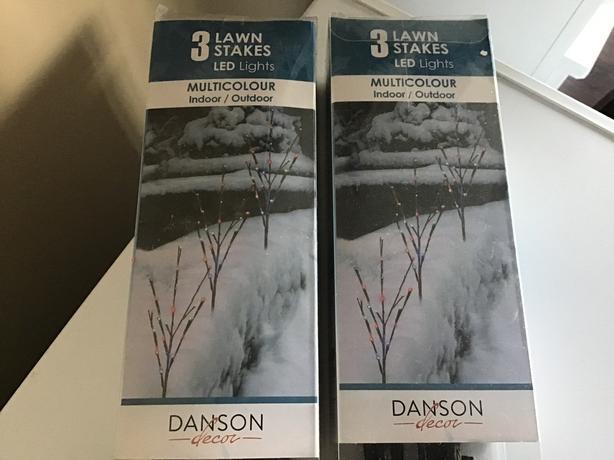 Three Danson LED lawn stake lights