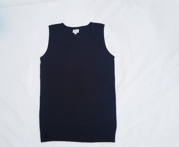 Black sweater vest NEW