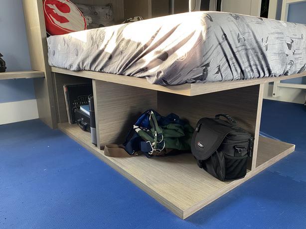 Custom twin bed
