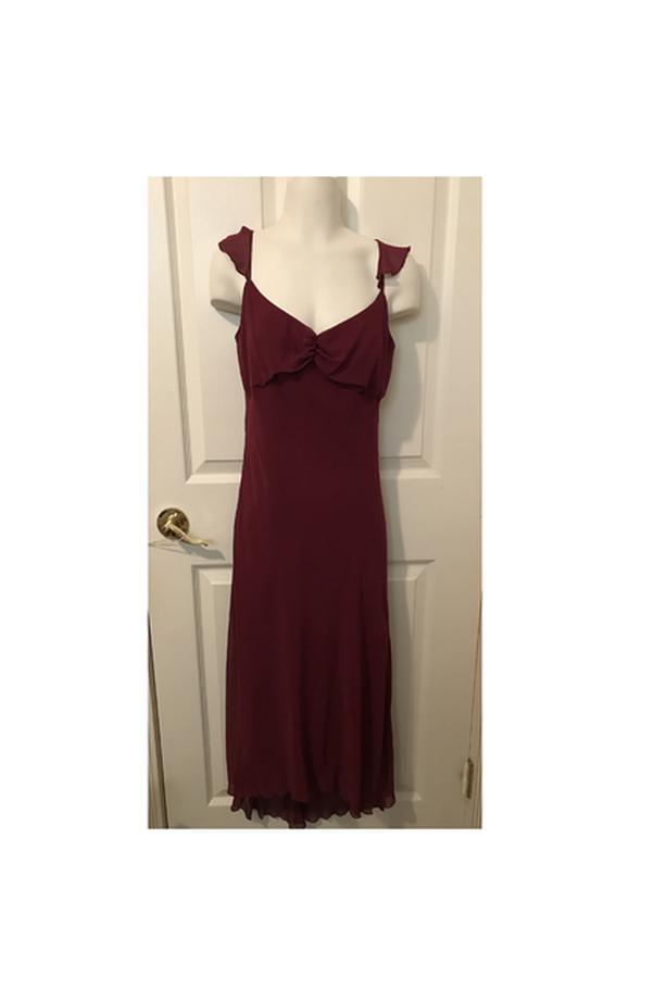 B. SMART Burgundy Spaghetti Strap Dress