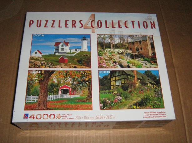 PUZZLER'S  COLLECTION  -  FOUR  PUZZLES  IN  A  BOX