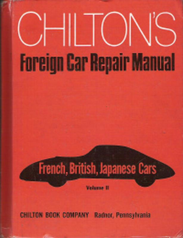 Chilton Foreign Car Repair Manual