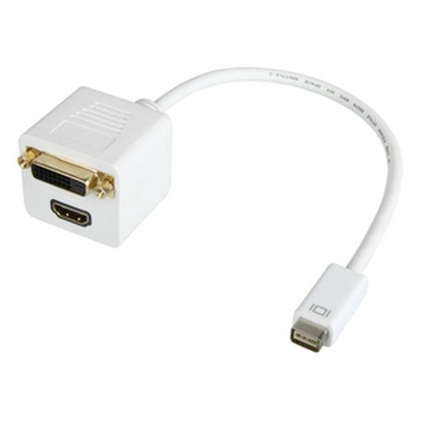 Mini DVI to HDMI (F) + DVI (F) 2-in-1 Adatper Cable