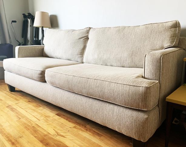 3 Seater Sofa & Loveseat - DEEP CUSHIONS - Mint/New