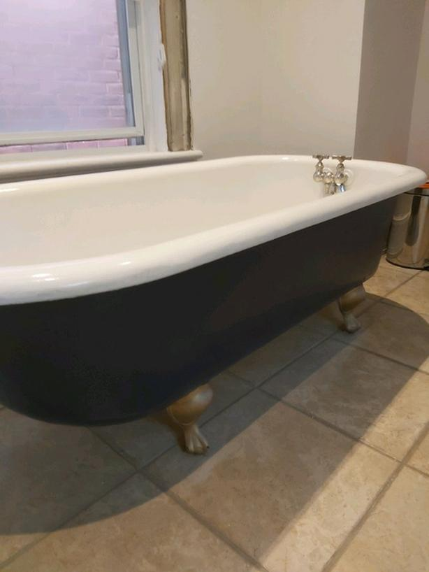 antique clawfoot tub-excellent condition