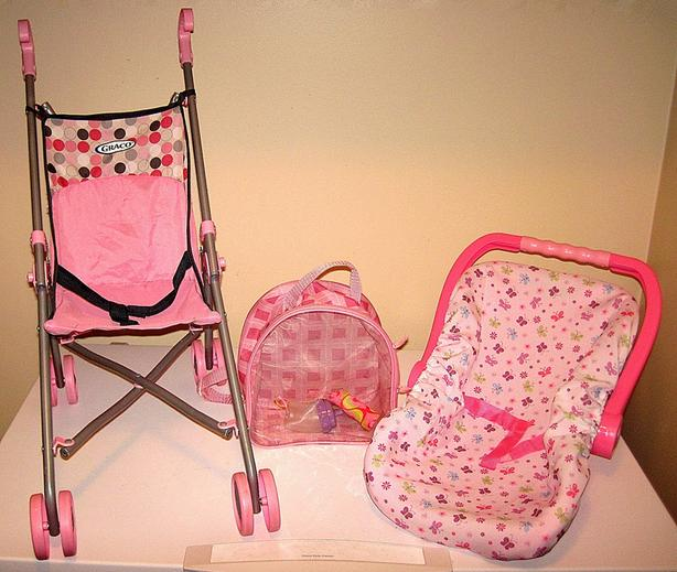 Toy Stroller, Doll Carrier and Carrying Case